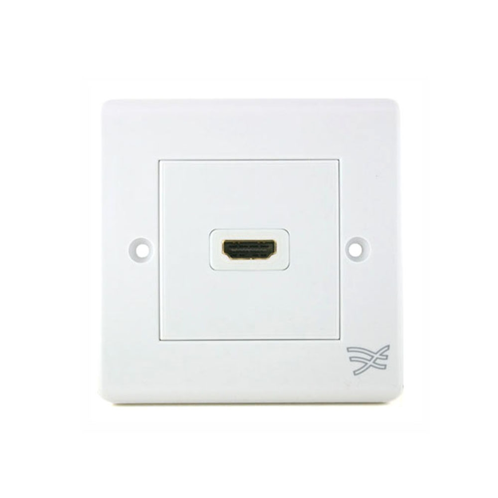 Cablesson HDMI Wall Plate Dual Connector S/A - White
