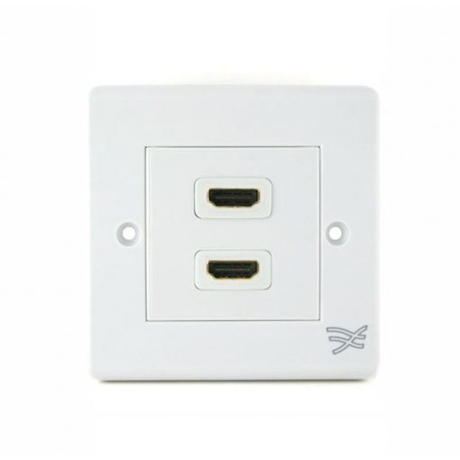 Cablesson HDMI Wall Plate Dual Connector 100/A - White