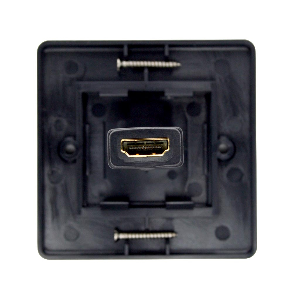 Cablesson HDMI Wall Plate Single Connector 100 - Black
