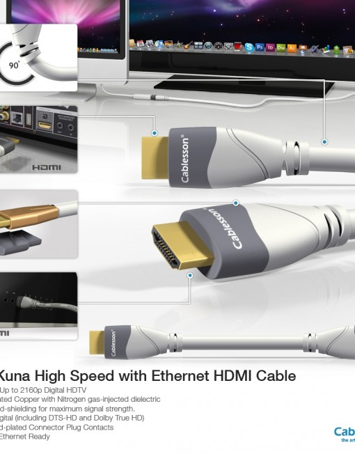 MacKuna High Speed with Ethernet HDMI Cable