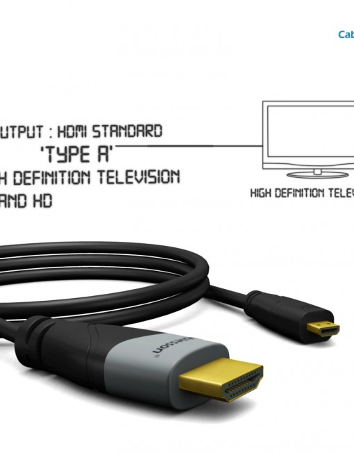 Cablesson Basic High Speed Micro HDMI Cable with Ethernet