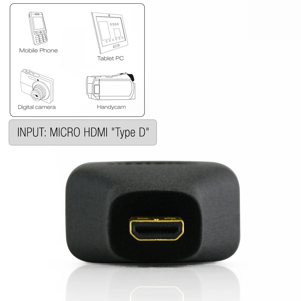 Cablesson - Micro HDMI (Type D) to HDMI (Type A) - Adapter