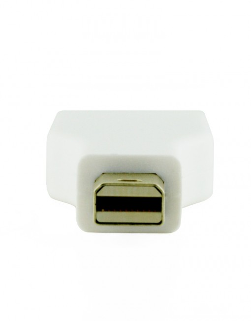 Cablesson - Mini DisplayPort M to DisplayPort F Adapter - White