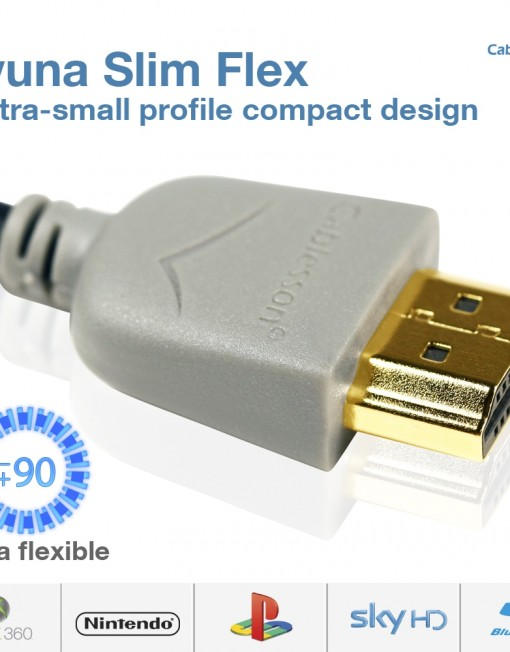 Cablesson Ivuna Slim Flex HDMI Cable with Ethernet